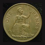 Великобритания пенни 1937  Коронация, фото №3