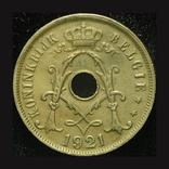 Бельгия 25 сантим 1921, фото №2