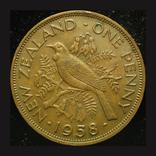 Новая Зеландия 1 пенни 1958, фото №2
