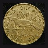 Новая Зеландия 1 пенни 1954 aUnc, фото №2
