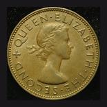 Новая Зеландия 1 пенни 1954 aUnc, фото №3