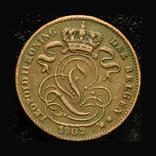 Бельгия 1 сентим 1902, фото №3