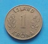 Исландия 1 крона, фото №3
