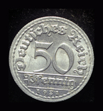 Германия 50 пфеннигов 1921 Unc, фото №3