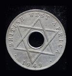 Британская Западная Африка 1/2 пенни 1949, фото №2