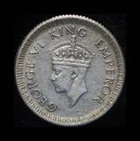Британская Индия 1/4 рупии 1943 серебро, фото №3