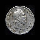 Нидерланды 5 центов 1862 серебро, фото №2