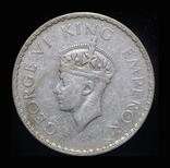 Британская Индия 1 рупия 1941 серебро, фото №3