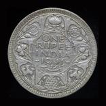 Британская Индия 1 рупия 1941 серебро, фото №2
