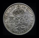 Великобритания 2 шиллинга 1945 серебро, фото №2