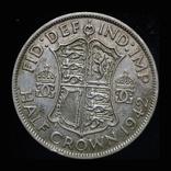 Великобритания 1/2 кроны 1942 серебро, фото №2