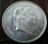 1 крона 1817 року Велика Британія копія срібної не  магнітна. Посрібнення  999, фото №2