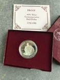США 50 центов 1982 год серебро Вашингтон, фото №5