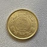 Саудовская Аравия гинея 1950 год 7,98 гр золота 917, фото №2