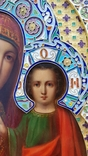 Икона Божьей матери Казанская в серебряном окладе с эмалью., фото №8