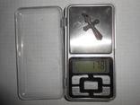 Крестик нательный Серебро 925 Вес - 1,78 грамм, фото №7