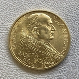 Ватикан 100 лир 1929 год 8,8 грамм золота 900, фото №2