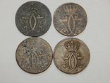 4 монеты по 1 скиллингу, Дания, 1771 г, фото №3