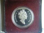 Канада 1 доллар 1991 г. Серебро. Фронтенак. Корабль., фото №3