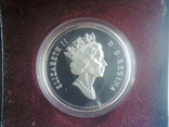 Канада 1 доллар 1991 г. Серебро. Фронтенак. Корабль., фото №4
