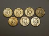 7 монет по 10 оре, Швеция, фото №2