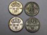 4 монеты по 10 оре, Швеция, фото №3