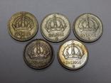 5 монет по 25 оре, Швеция, фото №3