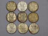 9 монет по 1 кроне, Швеция, фото №2