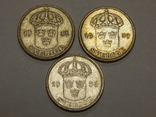 3 монеты по 50 оре, Швеция, фото №3