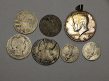 7 монет мира из серебра, фото №3