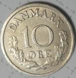 Дания 10 эре 1970, фото №2