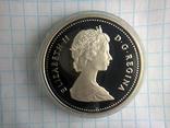 1 доллар, Канада, 1987 г., 400 лет открытию пролива Дейвиса, серебро, 0.500, 23.33 гр., фото №2