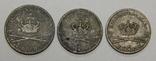3 монеты Дании по 3 и 4 скиллинга, фото №2