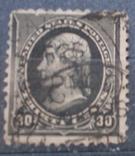 США 1890 г., 30 центов, 40, тонкое место, фото №2