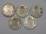 5 монет по 2 кроны, Дания, фото №2