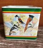 Металлическая коробочка из под чая (2005г), тема райские птицы, фото №2