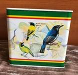 Металлическая коробочка из под чая (2005г), тема райские птицы, фото №3