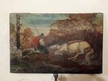 Картина козак і кінь. Репродукція., фото №2