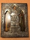 Икона Св. Зосима и Св. Саватий в серебряном окладе. 1877 год Поволжье, фото №2