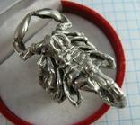 Серебряное Кольцо Перстень Скорпион Массивное 3D Размер 18.75 Серебро 925 проба 716