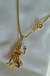 """Цепочка с подвеской """"Дева"""". Золото, бриллианты. Клейма., фото №11"""