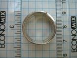 Серебряное Кольцо Широкое Камни Фианиты Размер 17.25 Серебро 925 проба 556 фото 4