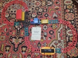 Железная дорога электромеханическая игрушка СССР. В коробке., фото №3