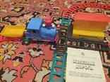 Железная дорога электромеханическая игрушка СССР. В коробке., фото №4