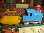 Железная дорога электромеханическая игрушка СССР. В коробке., фото №7