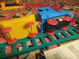 Железная дорога электромеханическая игрушка СССР. В коробке., фото №8