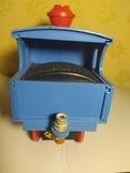 Железная дорога электромеханическая игрушка СССР. В коробке., фото №12