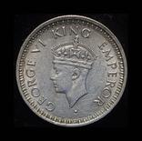Британская Индия 1/4 рупии 1945 серебро, фото №3