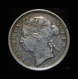 Британский Маврикий 20 центов 1899 серебро, фото №3