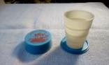 Складной стакан для холодной воды  (походный ). Пятигорск  .СССР., фото №2